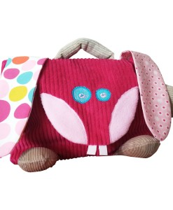 cartable lapin fuchsia