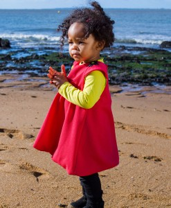 robe rouge pour petite fille