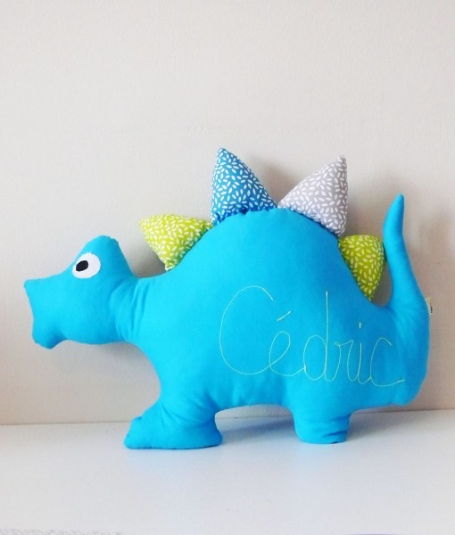 Coussin dinosaure turquoise délo anak redim