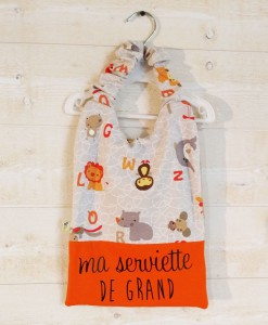 Serviette de table pour enfant made in France