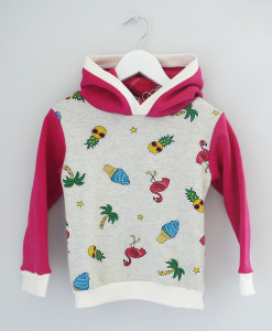 pull enfant flamant rose ananas délo anak