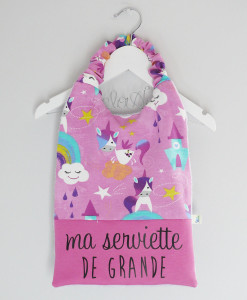 Serviette de table licornedélo anak