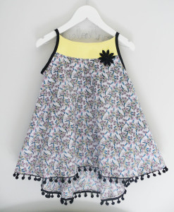 Robe fille été 2019 liberty made in france Délo Anak