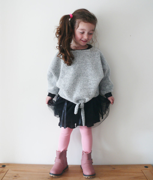 Ensemble fille collection hiver tutu noir délo anak